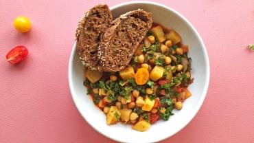 Zlim recept stoofpotje met zoete aardappel en boerenkool