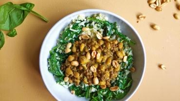 Zlim afvallen inspiratie recept indiase curry met bloemkoolrijst