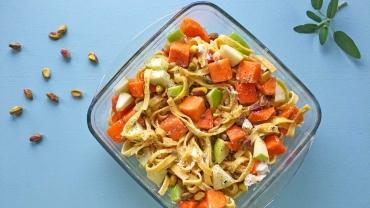 Zlim afvallen inspiratie recept - pasta ovenschotel met pompoen