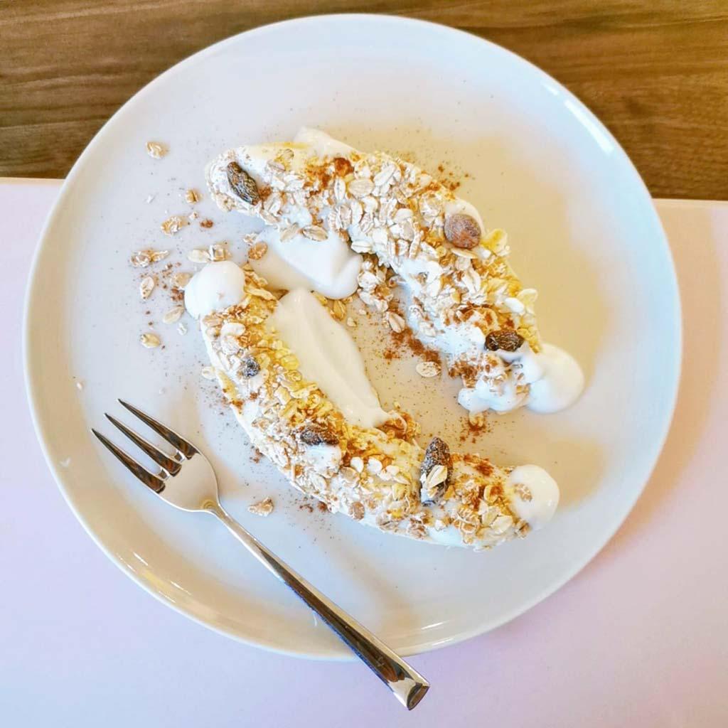 Zlim ontbijt recept bananensplit