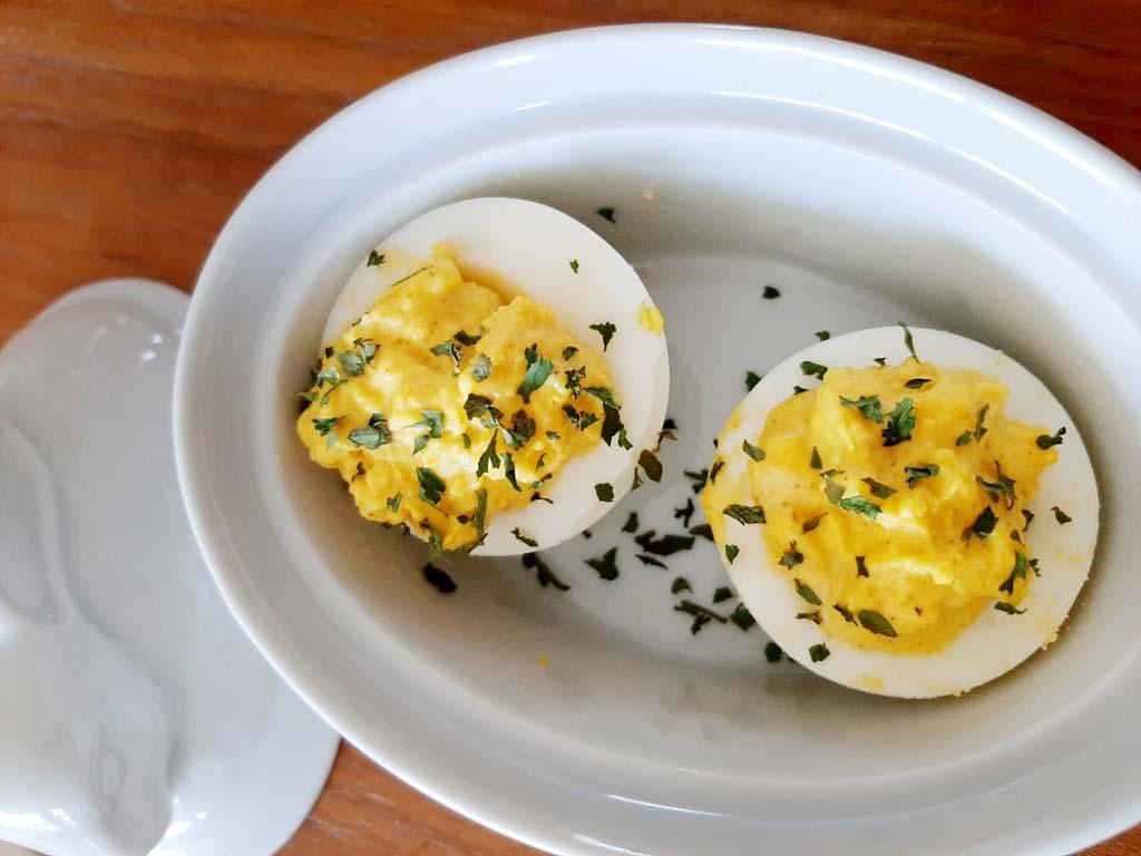 Zlim recept - gevulde eieren