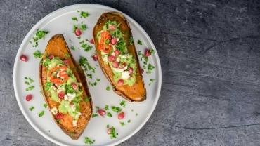 Grieks gevulde zoete aardappel - Zlim recept