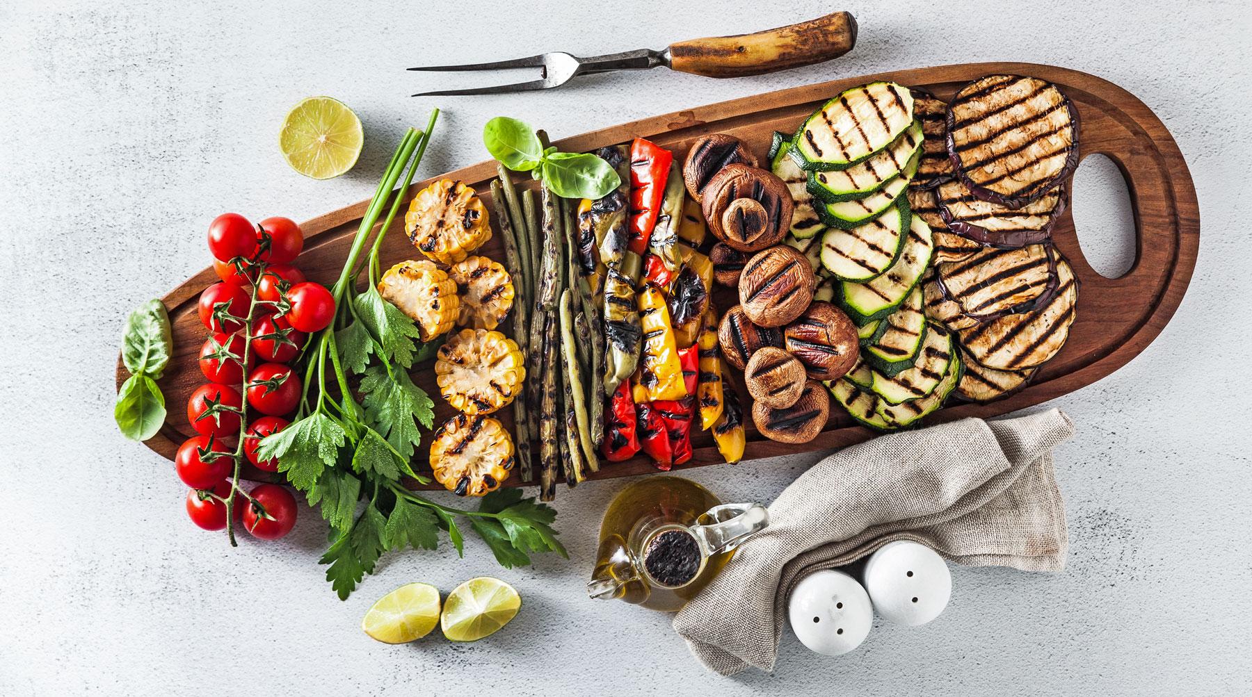 Zlimme keuze: gegrilde groenten op de barbecue