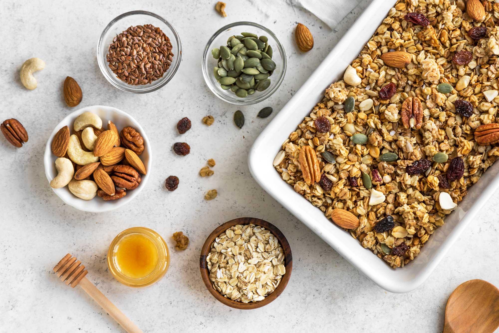 Zelf granola maken - Zlim recept